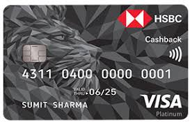 HSBC Cash Back Credit  Card