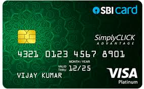 SimplyCLICK SBI Bank Card: