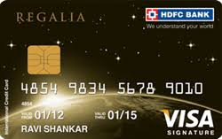 HDFC Regalia Bank Card
