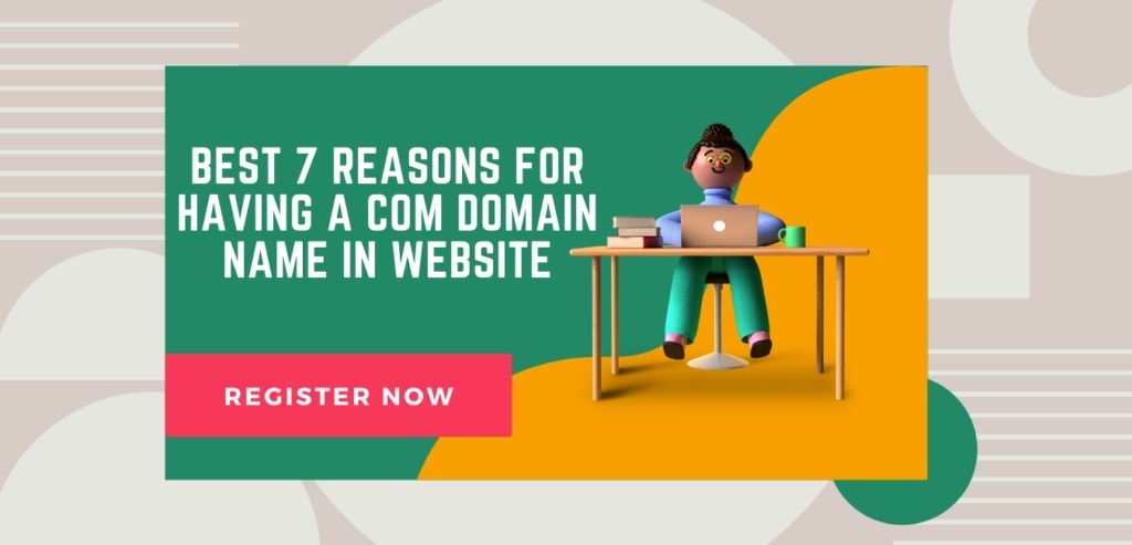 com domain name in website