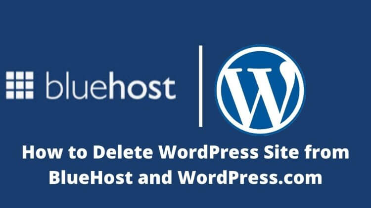 delete wordpress site