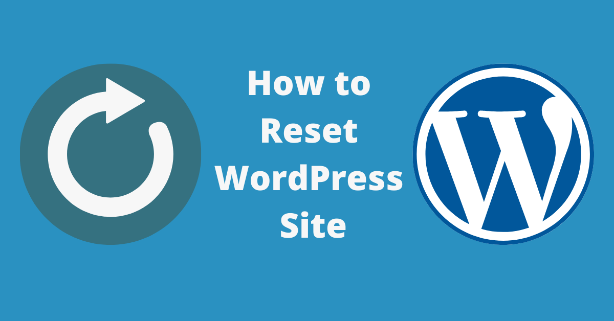 reset wordpress site