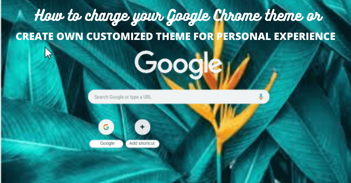 how to change your google chrome theme