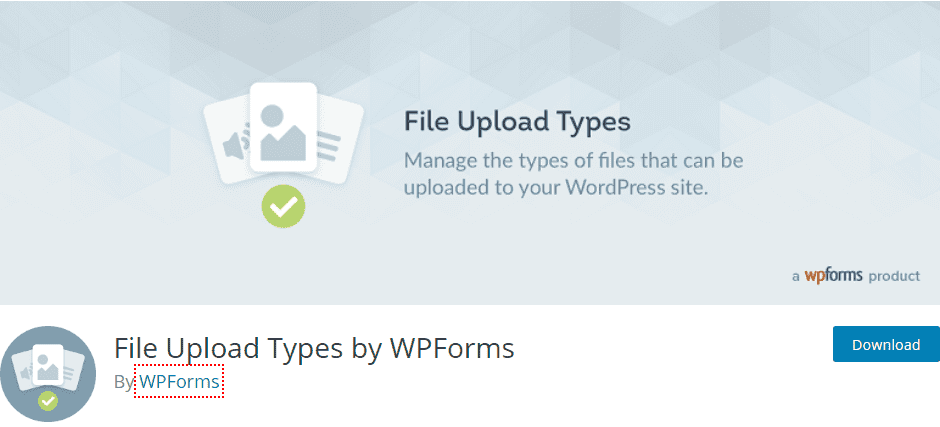 file upload type by wpforms