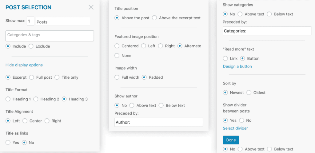 mailpoet-email-builder-automatic-post-content-module-customization-options-tinified